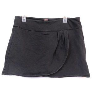 FREE PEOPLE Gray Jersey Pleated Layered Mini Skirt